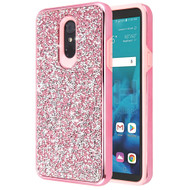 Desire Mosaic Crystal Hybrid Case for LG Stylo 4 / Stylo 4 Plus - Pink