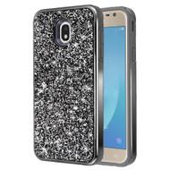Desire Mosaic Crystal Hybrid Case for Samsung Galaxy J7 (2018) / J7 Refine / J7 V (2nd Gen) - Black