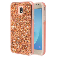 *Sale* Desire Mosaic Crystal Hybrid Case for Samsung Galaxy J7 (2018) / J7 Refine / J7 Star / J7 V (2nd Gen) - Rose Gold