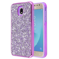 Desire Mosaic Crystal Hybrid Case for Samsung Galaxy J7 (2018) / J7 Refine / J7 Star / J7 V (2nd Gen) - Purple