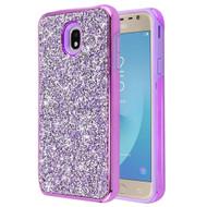 Desire Mosaic Crystal Hybrid Case for Samsung Galaxy J7 (2018) / J7 Refine / J7 V (2nd Gen) - Purple