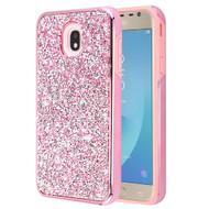 Desire Mosaic Crystal Hybrid Case for Samsung Galaxy J7 (2018) / J7 Refine / J7 V (2nd Gen) - Pink