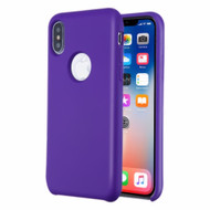 Liquid Silicone Protective Case for iPhone XS / X - Purple
