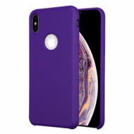 Liquid Silicone Protective Case for iPhone XS Max - Purple