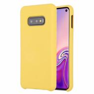 Liquid Silicone Protective Case for Samsung Galaxy S10e - Yellow