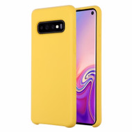 Liquid Silicone Protective Case for Samsung Galaxy S10 - Yellow