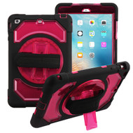 3-IN-1 Hybrid Armor Case with Rotatable Hand Strap and Stand for iPad Mini 1 / 2 / 3 - Red