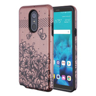 Fuse Slim Armor Hybrid Case for LG Stylo 4 / Stylo 4 Plus - Lace Flower Rose Gold