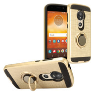 *Sale* Sports Hybrid Armor Case with Smart Loop Ring Holder for Motorola Moto G6 Play / G6 Forge - Gold