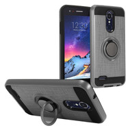 *Sale* Sports Hybrid Armor Case with Ring Holder for LG Aristo 3 / Aristo 2 Plus / Fortune 2 / Tribute Empire - Grey