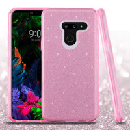 Full Glitter Hybrid Protective Case for LG G8 ThinQ - Pink