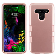 Military Grade Certified TUFF Hybrid Armor Case for LG G8 ThinQ - Rose Gold