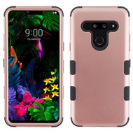 Military Grade Certified TUFF Hybrid Armor Case for LG G8 ThinQ - Rose Gold 059