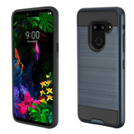 Brushed Coated Hybrid Armor Case for LG G8 ThinQ - Ink Blue