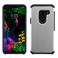 Hybrid Multi-Layer Armor Case for LG G8 ThinQ - Silver
