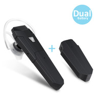 Bluetooth V4.1 Wireless Headset with Extra Battery and Wired Earbud  - Black
