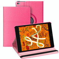 360 Degree Smart Rotating Leather Hybrid Case for iPad Mini 5 (5th Generation) - Hot Pink