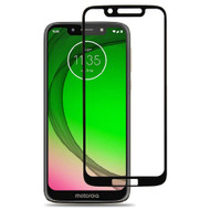 Premium Full Coverage 2.5D Tempered Glass Screen Protector for Motorola Moto G7 Play - Black