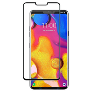 Full Coverage Premium 2.5D Round Edge HD Tempered Glass Screen Protector for LG G8 ThinQ - Black