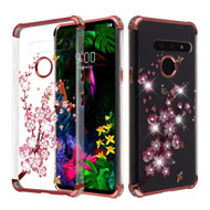 Klarion Crystal Clear Diamond Tough Case for LG G8 ThinQ - Spring Flowers