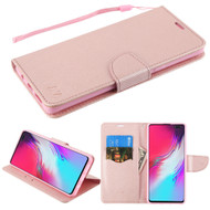 *Sale* Crossgrain Series Diary Leather Wallet Stand Case for Samsung Galaxy S10 5G - Rose Gold