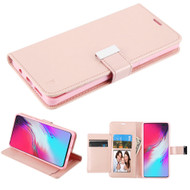 Xtra Series Essential Leather Wallet Stand Case for Samsung Galaxy S10 5G - Rose Gold
