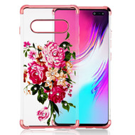 *Sale* Klarion Crystal Clear Diamond Tough Case for Samsung Galaxy S10 5G - Pink Peony