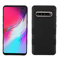 Military Grade Certified TUFF Hybrid Armor Case for Samsung Galaxy S10 5G - Black 001
