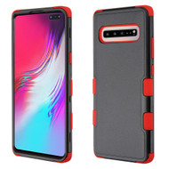 Military Grade Certified TUFF Hybrid Armor Case for Samsung Galaxy S10 5G - Black Red