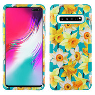 Military Grade Certified TUFF Hybrid Armor Case for Samsung Galaxy S10 5G - Spring Daffodils