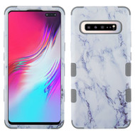 Military Grade Certified TUFF Hybrid Armor Case for Samsung Galaxy S10 5G - Marble White