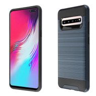 Brushed Coated Hybrid Armor Case for Samsung Galaxy S10 5G - Ink Blue