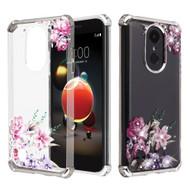 Klarion Crystal Clear Diamond Case for LG Aristo 3 / Aristo 2 Plus / Fortune 2 / Tribute Empire - Romantic Flowers