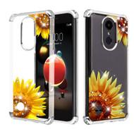 Klarion Crystal Clear Diamond Tough Case for LG Aristo 3 / Aristo 2 Plus / Fortune 2 / Tribute Empire - Sunflower