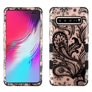 Military Grade Certified TUFF Hybrid Armor Case for Samsung Galaxy S10 5G - Phoenix Flower Rose Gold