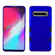 Military Grade Certified TUFF Hybrid Armor Case for Samsung Galaxy S10 5G - Blue 005