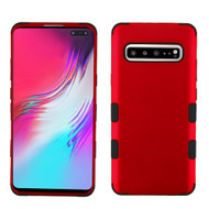 Military Grade Certified TUFF Hybrid Armor Case for Samsung Galaxy S10 5G - Red 006