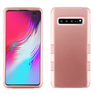 Military Grade Certified TUFF Hybrid Armor Case for Samsung Galaxy S10 5G - Rose Gold