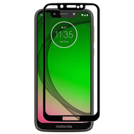 Full Coverage Premium 2.5D Round Edge HD Tempered Glass Screen Protector for Motorola Moto G7 Play - Black