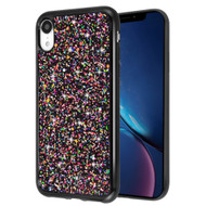 Flakes Series Electroplating Glitter Case for iPhone XR - Black