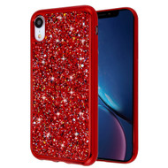 Flakes Series Electroplating Glitter Case for iPhone XR - Red