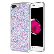 Flakes Series Electroplating Glitter Case for iPhone 8 Plus / 7 Plus - Purple