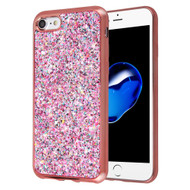*Sale* Flakes Series Electroplating Glitter Case for iPhone 8 / 7 - Rose Gold