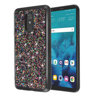 Flakes Series Electroplating Glitter Case for LG Stylo 4 / Stylo 4 Plus - Black