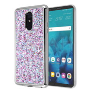 *Sale* Flakes Series Electroplating Glitter Case for LG Stylo 4 / Stylo 4 Plus - Purple