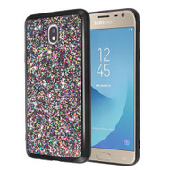 *Sale* Flakes Series Electroplating Glitter Case for Samsung Galaxy J7 (2018) / J7 Refine / J7 Star - Black