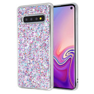 Flakes Series Electroplating Glitter Case for Samsung Galaxy S10 - Purple