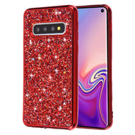*Sale* Flakes Series Electroplating Glitter Case for Samsung Galaxy S10 - Red