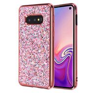 *Sale* Flakes Series Electroplating Glitter Case for Samsung Galaxy S10e - Rose Gold