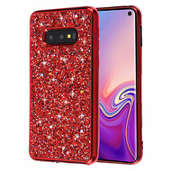 Flakes Series Electroplating Glitter Case for Samsung Galaxy S10e - Red